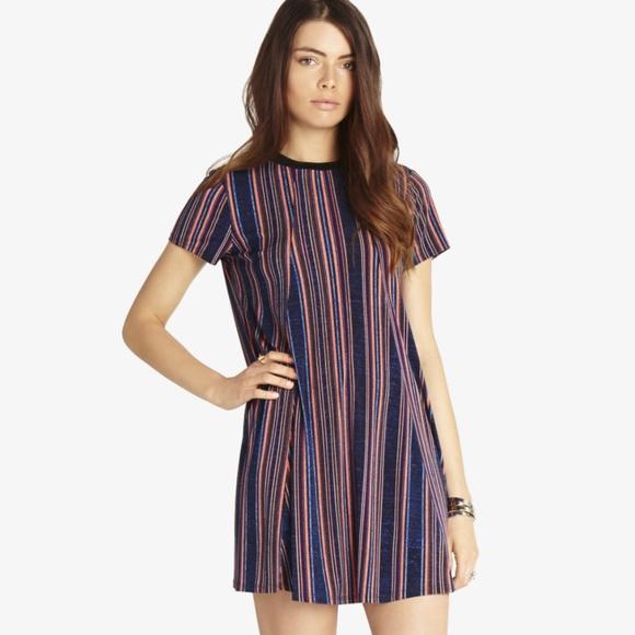 3f2decb366b1a BCBGeneration Dresses | Striped Open Back Trapeze Dress | Poshmark
